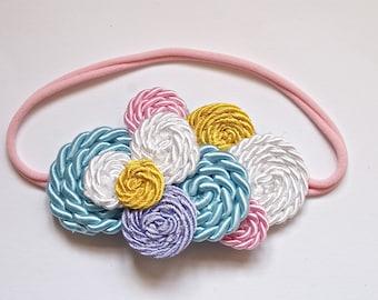 Pastel Candy Swirls, Cluster Headband