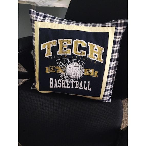 GA Tech Basketball T-Shirt Pillowcase