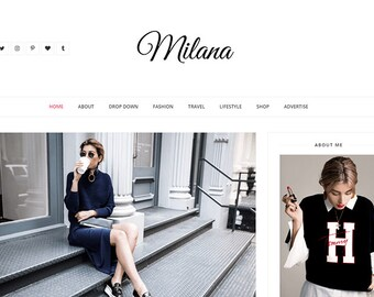 Milana - Clean & Responsive Fashion Blogger Template