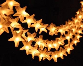 20 Handmade Star Lantern Fairy Lights Battery Led Lights Decorative Hanging Lights Indoor string lights String Lights Twinkle Lights Decor