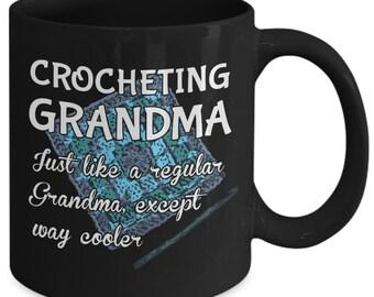 Crocheting Grandma Mug