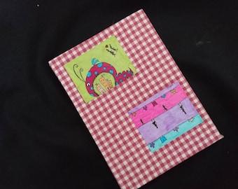 hand-drawn hand-bound notebook