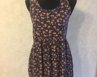 90s floral tunic dress