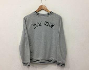 Mega Sale ! Playboy Sweatshirt Ladies Grey Medium Size