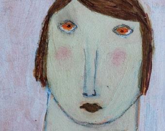 Original Art Card – Mixed Media ACEO – Woman ACEO - Contemporary Art Card - ATC – Affordable Small Art