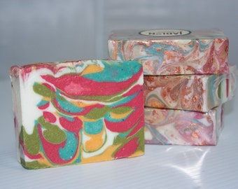 Grapefruit Luxurious Bath Bar, Cold Process soap, homemade soap