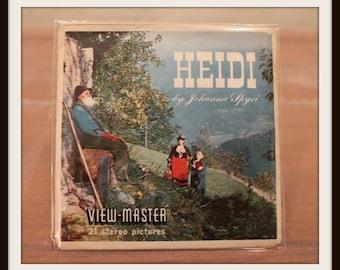 Vintage Sawyer's Heidi View Master 3 Reel Set With Story Booklet, Heidi View-Master 3 Reels and Heidi Story Booklet Packet No. B 425