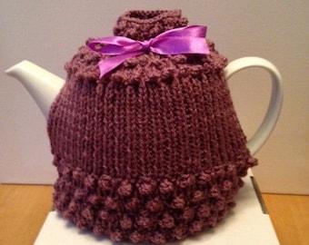 Bespoke Hand Knitted Grape Tea Cosy