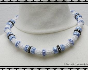 "Halskette ""Annabell in Weiß"" / Necklace ""Annabell in white"""