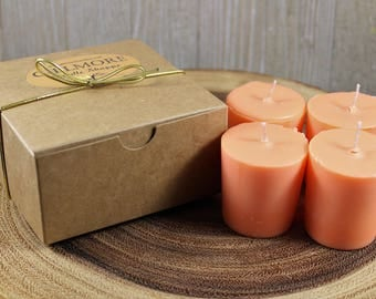 Juicy Peach Soy Votive Candles (Set of 4)