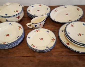 French Vintage Service Mary Lou from Digoin, 1930's