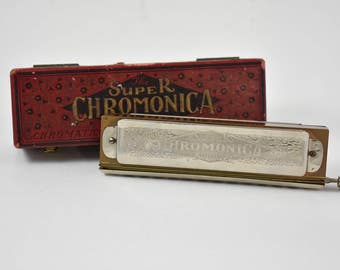 The Super Chromonica Made By M. Hohner w/ Original Box