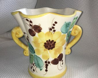 FTD sunflower vase made in Portugal/FTD 1970 vase/FTD sunflower vase/Ftd 1970 vase/ftd vases/vintage vases/vintage sunflower vase/old vases