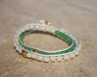 White Wrap Rope Bracelet