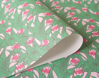 Tulips wrapping paper 3 arch in pink