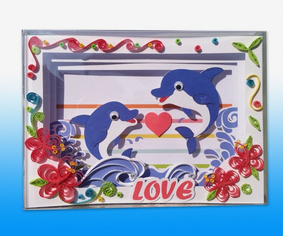 Items Similar To 3D Paper Cut And Quilling Shadow Box Card