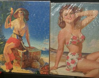 vintage pinup girls portraits jigsaw puzzles