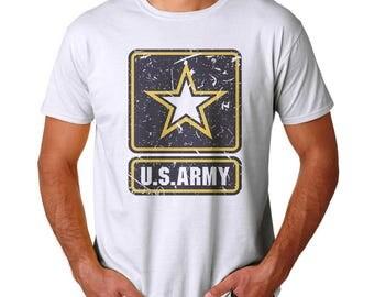 U.S. Army Men's White T-shirt NEW Sizes S-2XL