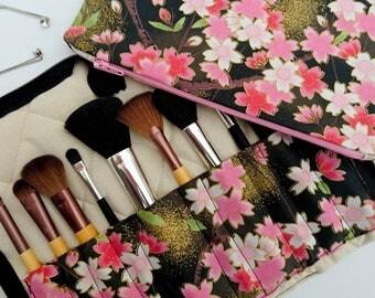 Travel makeup brush bag, makeup brush organiser, makeup brush bag set, Mother's Day gift, black gift