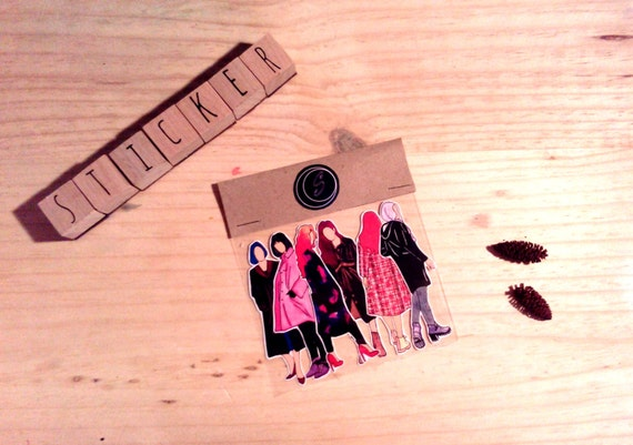 "Sticker Planner ""Coat girl"", ideal for planning & journaling"