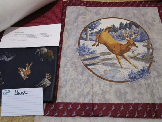 Deer - Buck - Pillow Quilt Kit