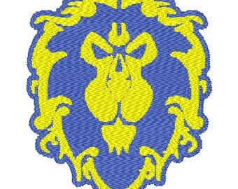 For the Alliance! - WoW - Embroidery File - 4x4
