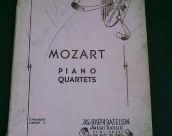 Mozart: Piano Quartets for Piano, Violin, Viola and Violoncello 1941 Sheet Music