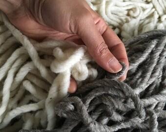Wool yarn borrego 1kg 100% worsted knitting XL