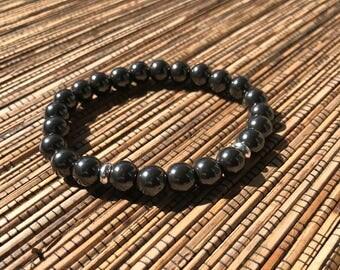 Magnetic (Gold or Silver) - Beaded Bracelet