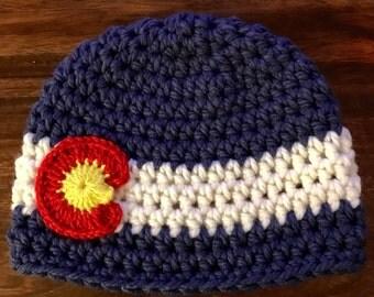 Colorado Flag Beanie Hat