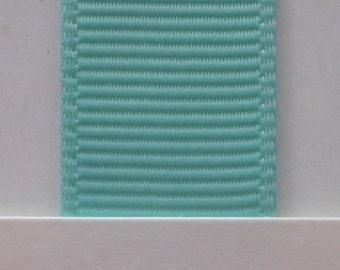 "3/8"" / 10mm Solid Grosgrain Ribbon AQUA #314 X 2 METER"
