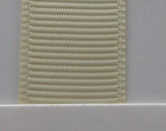 """3/8"""" / 10mm Solid Grosgrain Ribbon IVORY #810 X 2 METERS"""