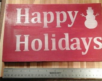 sign Wooden Christmas sign,santa, christmas