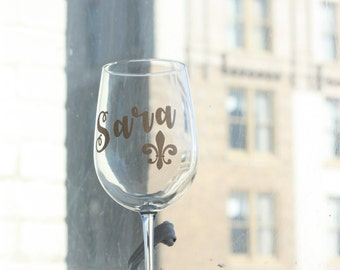 Personalized Wine Glass ~ Custom Wine Glasses ~ Bridesmaid Gifts ~ Womens Gifts