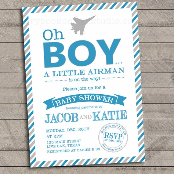Oh boy military baby shower invitations air force army armed il570xn filmwisefo