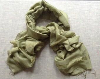 Silk and Linen  Fair Trade Scarf / Shawl / Wrap - Willow