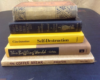 Decorative Vintage Book Stack