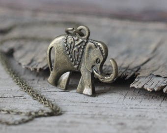 African Elephant pendant necklace