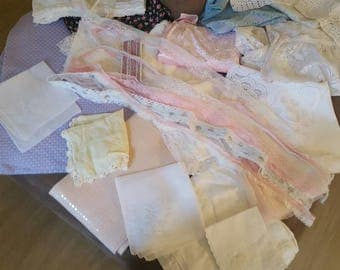 Vintage and New lace and linen lot 3