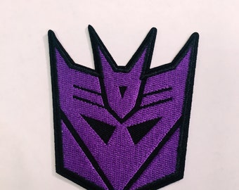 D/Iron on/ sew on patches- transformers/purple