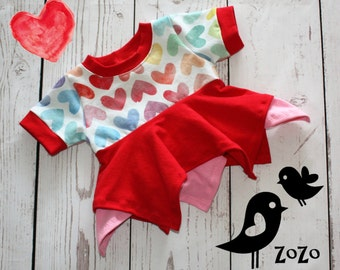 Watercolour Hearts Shirt - 6mth