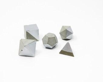 Geometric Shape Set: Silver
