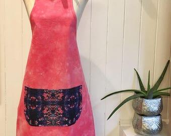 Summer Brights Digitally Printed Pink Apron Second