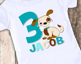 Cute puppy dog designed birthday t shirt tshirt personalized