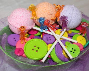 Lollipop Bath  Bomb Fizz