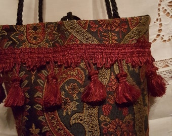 Small Tapestry Evening Bag