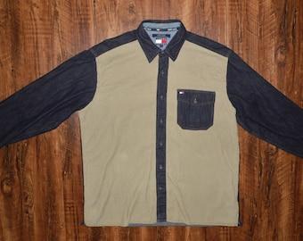 Vintage Tommy Hilfiger Denim and Corduroy Button up
