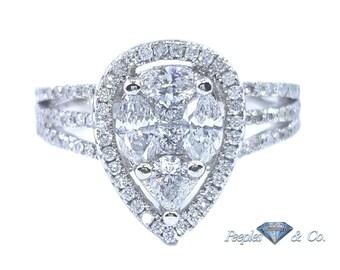 Diamond Pear Wedding Ring