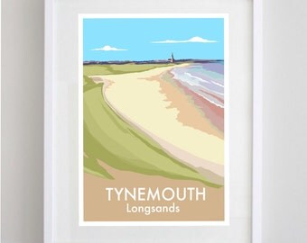 Tynemouth Longsands A4 print (unframed)