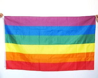 Rainbow Flag Free Shipping 3 x 5 Feet Gay Lesbian Trans LGBTQ with metal grommets